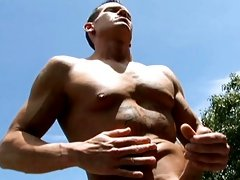 Watch this fresh young stud jerk his extremely large cock!